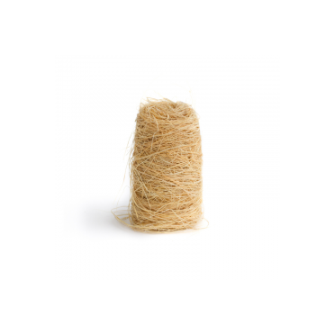 Natural biodegradable sterilized esparto grass scrubber, frontal view