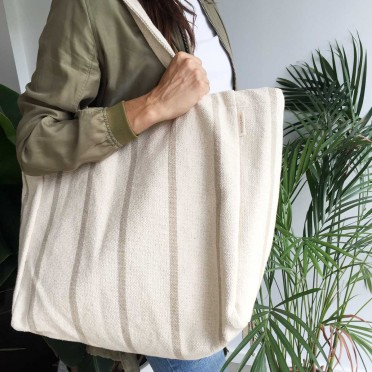 Maxi Sustainable Tote Bag, green colour, front view