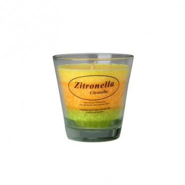 Natural Mosquito Repellent in Candle, top view