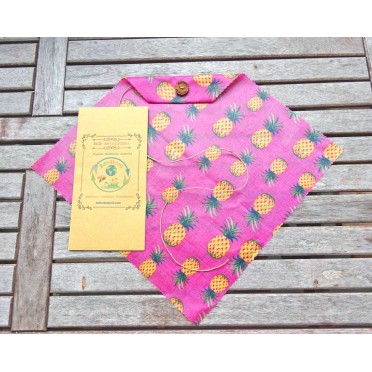 Eco Beeswax Sandwich Wrapper, pineapple print view