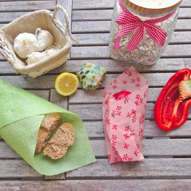 Reusable Food Wraps of Beeswax, group view