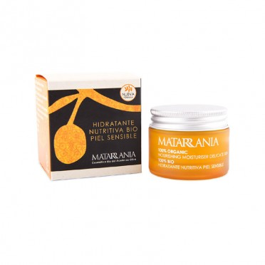Matarrania, Nourishing Moisturizing Cream Sensitive skin 100% bio, front view