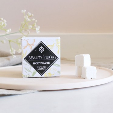 Dice of Bath Gel with White Tea and Citrus, Beauty Kubes, front view