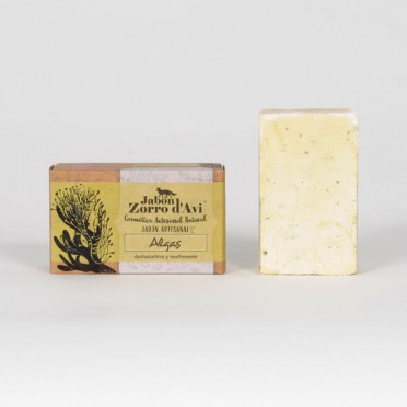 Seaweed Soap - Anti-cellulite, gives firmness and elasticity. Handcrafted, front view