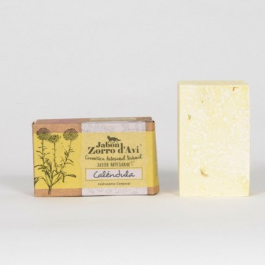 Calendula Handmade Soap, Regenerator, Sensitive Skin and Intimate Hygiene, top view