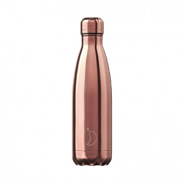 Chilly's Inox Rose Gold Bottle, 500 ml., front view