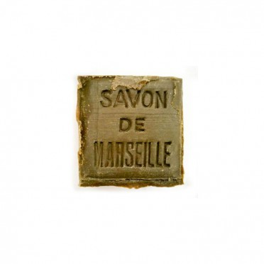 Marseille soap cube size 100 gr., front view