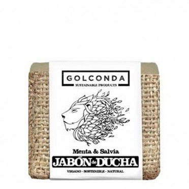 Mint and Sage Shower Soap - Golconda, front view