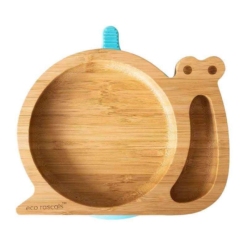 Bamboo Snail plate, front view