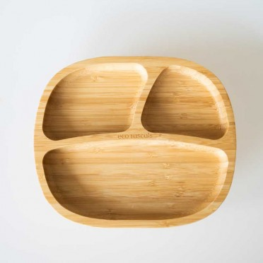 Bamboo Toddler plate, top view