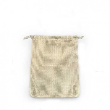 Washing machine bag for makeup remover discs, top view