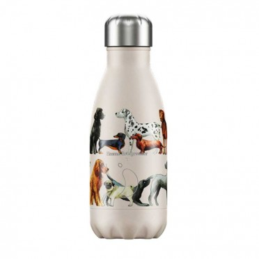 Chilly's Inox Emma Bridgewater Dogs bottle, 260 ml., Front view