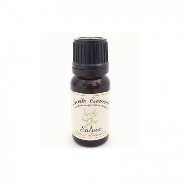 Sage essential oil (Salvia officinalis). 12 ml., Front view