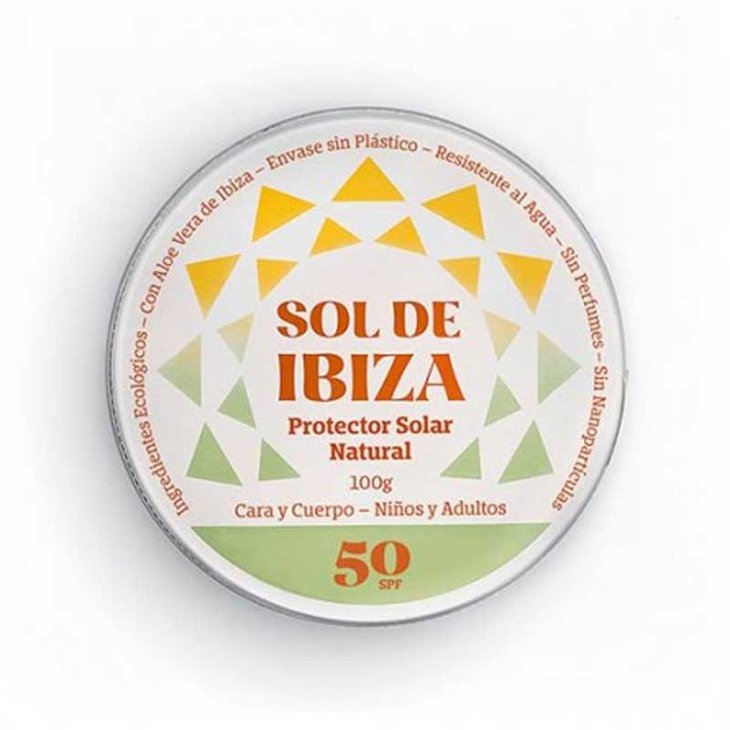 Natural Mineral Sunscreen SPF 50 without chemical filter - Sol de Ibiza, top view