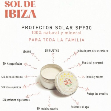 Natural Mineral Sunscreen SPF 50 without chemical filter - Sol de Ibiza, view characteristics