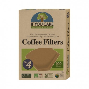Free sample of coffee filter (two units), front view.