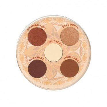 Valley of Fire Eyeshadow Palette, top view.