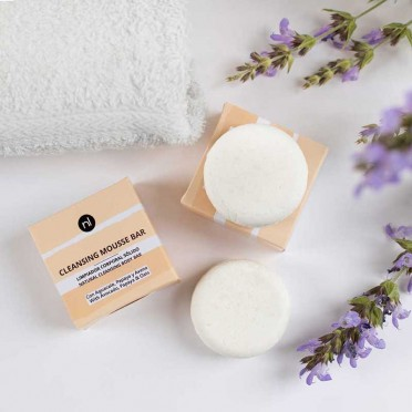 Cleansing mousse bar 70gr, Naturlab, front view