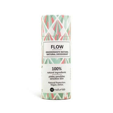 Flow sensitive skin deodorant, without bicarbonate - Naturlab, front view.