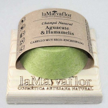 AVOCADO & HAMAMELIS Solid Shampoo, Very Dry, Frizzy Hair, Front View