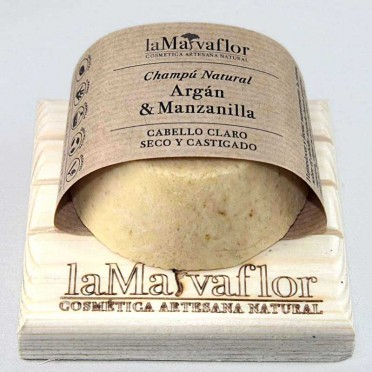 ARGAN & CHAMOMILE solid shampoo, Light, dry and damaged hair, front view
