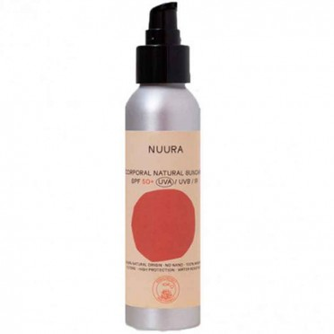 Fluid sunscreen SPF50, Mineral filter NO chemical, 125ml. - Nuura, front view