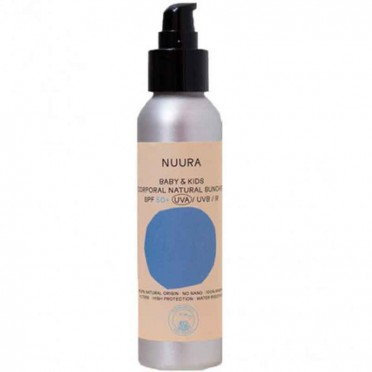 Fluid sunscreen SPF50 Baby-Kids, Mineral NO chemical filter, 125ml. - Nuura, front view