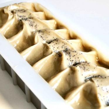 Avocado oil and yogurt handmade soap (choose format), top view