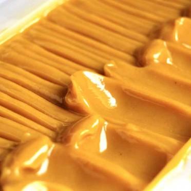 Orange and Carrot artisan soap (choose format), block view