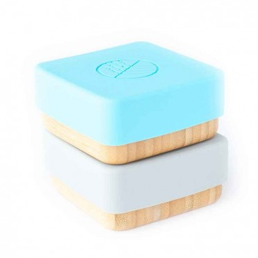 Bamboo snack holder, 2pc. (choose model), closed front view