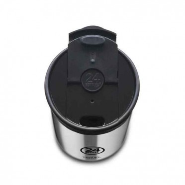 Reusable thermos cup, stainless steel, airtight, 600ml, top view