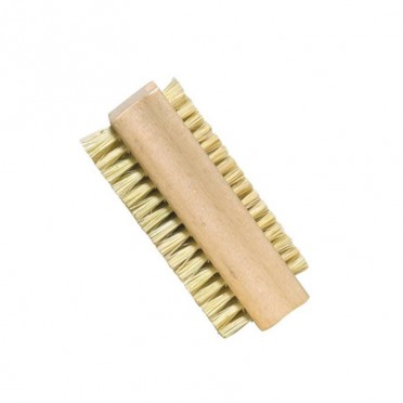 Double-Sided Vegetable Fibre Bristles Nail Brush, front view