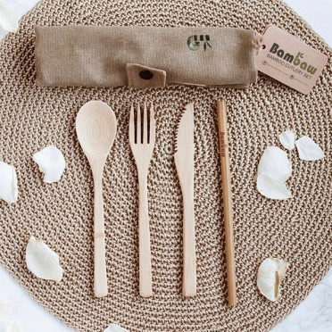 SOLD OUT - BAMBOO CUTLERY SET